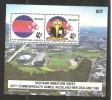 New Zealand 1990  Miniature Sheet Commonwealth Games Horizontal Pair Stadium Background MNH - Neuseeland