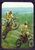 1987 Pocket Poche Bolsillo Calender Calandrier Calendario  Motorbikes Motorcycles Motos Motocross - Calendars