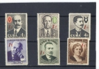 Cuba  -  1959 - 60  -  Yvert - 511 / 14 + 516 / 17 ( ** ) MNH - Cuba