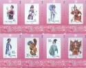 Tamura Cards From Gansu Province, Stamps Of  Female Roles Of Beijing Opera ,set Of 8,mint,issued In 1994 - Sellos & Monedas