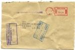 BUSTA---BANCA  CREDITO  VARESINO---  LUINO  BANK   1981 - Affrancature Meccaniche Rosse (EMA)