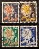 Nederland Netherlands Pays Bas (1933) Tweezijdige Hoekroltanding  98/101 Gestempeld (used, Oblitere) Syncopated - Carnets
