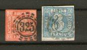 RARE BAYERN ROYAUME 1849/61 OBLITERE N °2 ET 14 -OBLITERE COTE 180 €-LIVRAISON VOIR DETAIL - Bayern (Baviera)