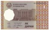 Banconota  1 DIRAM - TAJIKISTAN -  Anno 1999. - Tagikistan