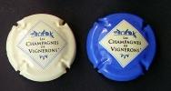 CAPSULE - Générique - Champagne De Vignerons - 2 Versions Crème Et Bleu, Filet Blanc - Other
