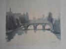 Tirage D´aquarelle Jacques Le Guernec. Pont Neuf, Notre- Dame Paris. - Watercolours