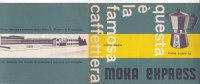 DEPLIANT PUBBLICITARIO MOKA ESPRESSO DITTA A.BIALETTI CRUSINALLO (NOVARA)     -2- 0882-12923 - Advertising