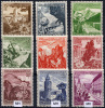 DR 1938 - Mi.675-683 (Sc.B123-131, Yv.616-624) MNH-MLH (all VF) - Deutschland