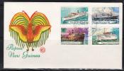 Papua New Guinea 1976 Ships (WCS) FDC - Papouasie-Nouvelle-Guinée