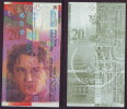 (Replica)China BOC (bank Of China) Training/test Banknote,Switzerland Schweiz B Series 20 SFR Note Specimen Overprint - Suiza
