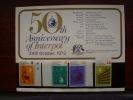 K.U.T. 1973 50th.Anniv.of INTERPOL - 4 VALUES Set To 2/50 With PRESENTATION CARD MNH. - Kenya, Uganda & Tanganyika