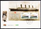Ireland Scott #1172a FDC Maritime Heritage - Souvenir Sheet Of 2 1pd Titanic - Histoire