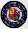 INSIGNE TISSUS PATCH CENTRE DE DETENTION DE MONTMEDY 2° MODELE  EN BLEU FONCE - Police & Gendarmerie
