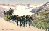 GRIMSELPOST > 5 Spänner Unterwegs Anno 1912 ++++ Col.Lichtdruck - VS Valais