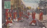 19652 ANNAM - HUE ESCORTE ROYALE PORTE ENCENSOIR EVENTAIL PARAPLUIe. Viet-nam. 3553 Dieulefils-timbre 5 Indochine Franca