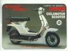 1987 Pocket Poche Bolsillo Calender Calandrier Calendario  Motorbikes Motorcycles Motos Derbi Scooter - Big : 1981-90