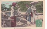 19662 Viet-nam Tonkin Teinturier Faisant Sécher Les Bandes Etoffe- 368 éd?- Timbre  5 Indochine Francaise Femme - Viêt-Nam