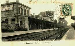95 VAL D'OISE LOUVRE LA GARE TBE - Louvres