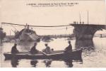 19671 NANTES  Ecroulement Pont PIRMIL Travaux Rétablissement Lignes Electriques -4 Nozais- Barque