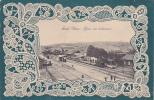 19692 SOUK AHRAS -tunisie - La Gare, Vue Intérieure. Col Durnté Et Guyard. 3e Régiement? Dentelle Relief - Gares - Avec Trains