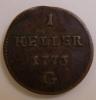 AUSTRIA   1 HELLER MARIA THERESIA 1773 G - Oostenrijk