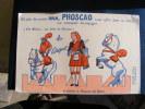 BUVARD...PHOSCAO..AU CIRQUE  SINGE ECUYER  CHEVAL DRESSEUSE..PETITE COUPURE EN HAUT..3mm......FRAIS DE PORT 1 EURO - Buvards, Protège-cahiers Illustrés