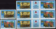 Hemd Ohne Emblem 1979 DDR 2426/7 Plus 2427 I Im 9-Block ** 22€ Als Vergleich Error On The Stamp Se-tenant Of Germany - [6] Democratic Republic