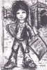 19700 Enfant Paris, Poulbo, Vendeur Petit Journal Signé Papy ?  Spadem Collection Igor