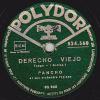 78 Tours - Polydor 524.560 - PANCHO Et Son Orchestre Typique - DERECHO VIEJO - INSPIRACION - 78 Rpm - Schellackplatten