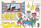 19717 Il Fait Bon Vivre à Saint St Martin De Landelles. JP -eglise Restaurant Dessin - Auvray Les Touches - France
