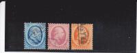 PAYS-BAS - YVERT N° 4/6 OBLITERES - COTE  = 157,5 EUROS - 1852-1890 (Guillaume III)