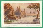 UN ASPECT DES RUINES D'ANGKOR D'APRES L'AQUARELLE DE M. GILBERT GALLAND - MESSAGERIES MARITIMES - Cambodge