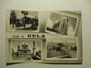 Saluti Da Gela ( Piazza Umberto I, Giardini Pubblici, Chiesa San Giacomo, Lido) Viaggiata Bianco E Nero - Gela