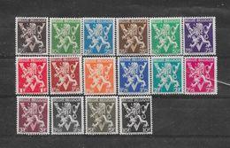 België 1944 Y&T Nr° 674A/689A - Unused Stamps