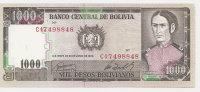 BOLIVIE 1000 PESOS  BOLIVIANOS  D1982 UNC P 167 - Bolivia