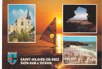 19730 Saint Hilaire Riez, Sion Ocean, 215 Artaud - Multivues, Planche Voile Blason - Saint Hilaire De Riez