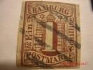 HAMBURG, SCOTT# 2, 1s BROWN, USED - Hambourg