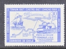Chile 371    **  MAP  SAILING SHIP  PROV. CHILOE - Chile