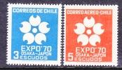 Chile 379, C 294    *  OSAKA JAPAN EXPO. - Chile