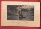P0260 Barque à Voile, En Route Pour Meillerie,Animé. Cachet 1918. Jullien 2607 - France