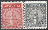 AUSTRALIE - Débarquement à Gallipoli - Série Complète Neuve - Neufs