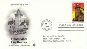 #2973 32-cent Great Lakes Lighthouse, 30 Mile Point Lake Ontario, Cheboygan MI 17 June 1995,First Day Cancel Postmark - 1991-2000