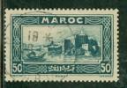 Maroc 1933 Yvert 139 Oblitéré Bateau : Barque, Kasbah Des Oudalas (Rabat) - Maroc (1891-1956)