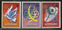 """Aitutaki        """"World Communication Year""""      Set     SC# 312-14  MNH** - Aitutaki"""