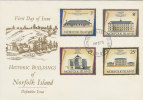 Norfolk Island 1975 February  Buildings  FDC - Norfolk Island