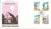 Norfolk Island 1992 Christmas FDC - Norfolk Island