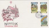 Norfolk Island 1994 Christmas FDC - Ile Norfolk