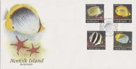 Norfolk Island 1995 Butterflyfish FDC - Norfolk Island