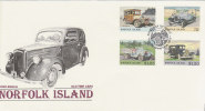 Norfolk Island 1995 Old Cars FDC - Norfolk Island