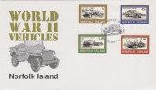 Norfolk Island 1995 World War II Vehicles FDC - Norfolk Island